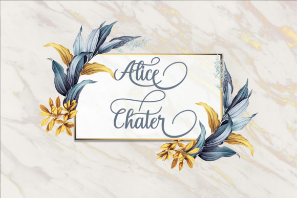 Print on Demand: Alice Chater Script & Handwritten Font By maydhen studio - Image 3
