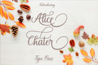 Print on Demand: Alice Chater Script & Handwritten Font By maydhen studio