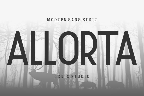 Print on Demand: Allorta Sans Serif Font By EdricStudio