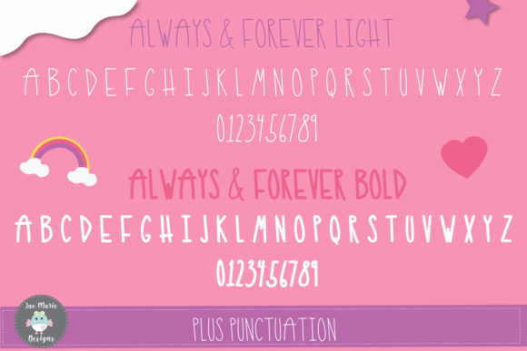 Print on Demand: Always and Forever Sans Serif Font By thejaemarie - Image 4