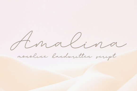 Print on Demand: Amalina Script & Handwritten Font By Subectype
