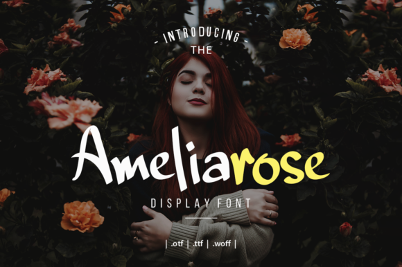 Print on Demand: Ameliarose Display Font By Zavira Mumtaz