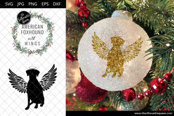 Download Free American Foxhound 6 With Wings Graphic By for Cricut Explore, Silhouette and other cutting machines.