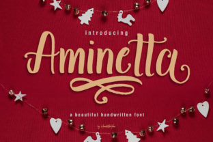 Aminetta Display Font By yean.aguste