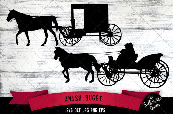 Download Free Amish Buggy Graphic By Thesilhouettequeenshop Creative Fabrica for Cricut Explore, Silhouette and other cutting machines.