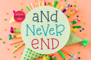 And Never End Font By Situjuh