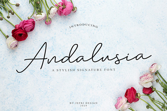Print on Demand: Andalusia Script & Handwritten Font By Bluestype Studio