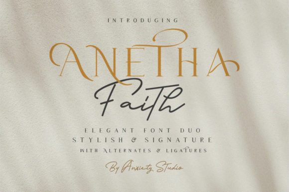 Print on Demand: Anetha Faith Duo Serif Font By lickermelody - Image 2
