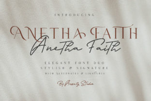 Anetha Faith Duo Font By lickermelody