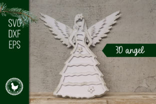Download Free Angel Cardstock 3d Graphic By Boertiek Creative Fabrica for Cricut Explore, Silhouette and other cutting machines.
