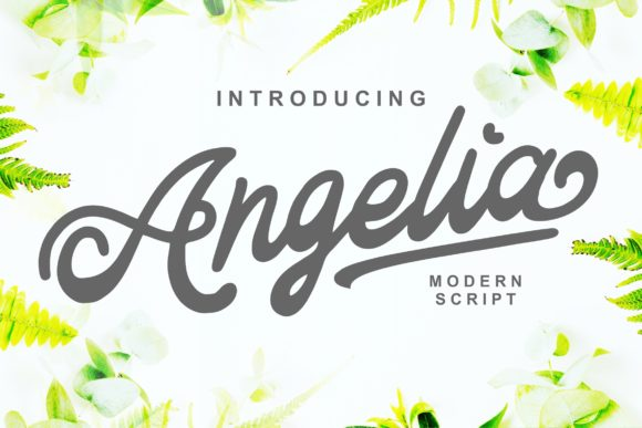 Print on Demand: Angelia Script & Handwritten Font By Ian Mikraz