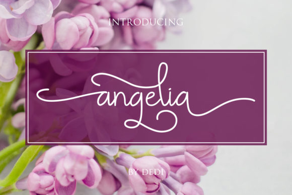 Print on Demand: Angelia Script & Handwritten Font By miracleboykenzie
