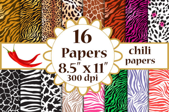 Animal Print Paper Graphic Crafts By ChiliPapers