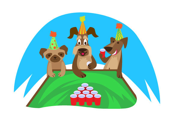 Download Free Animal Party With Dogs Playing A Drinking Game Svg Cut File By for Cricut Explore, Silhouette and other cutting machines.