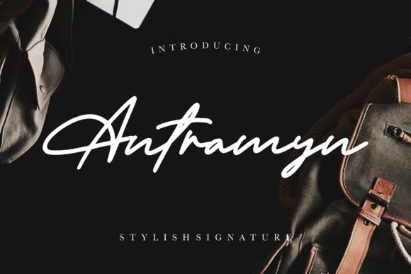 Print on Demand: Antramyn Script & Handwritten Font By CreatypeStudio