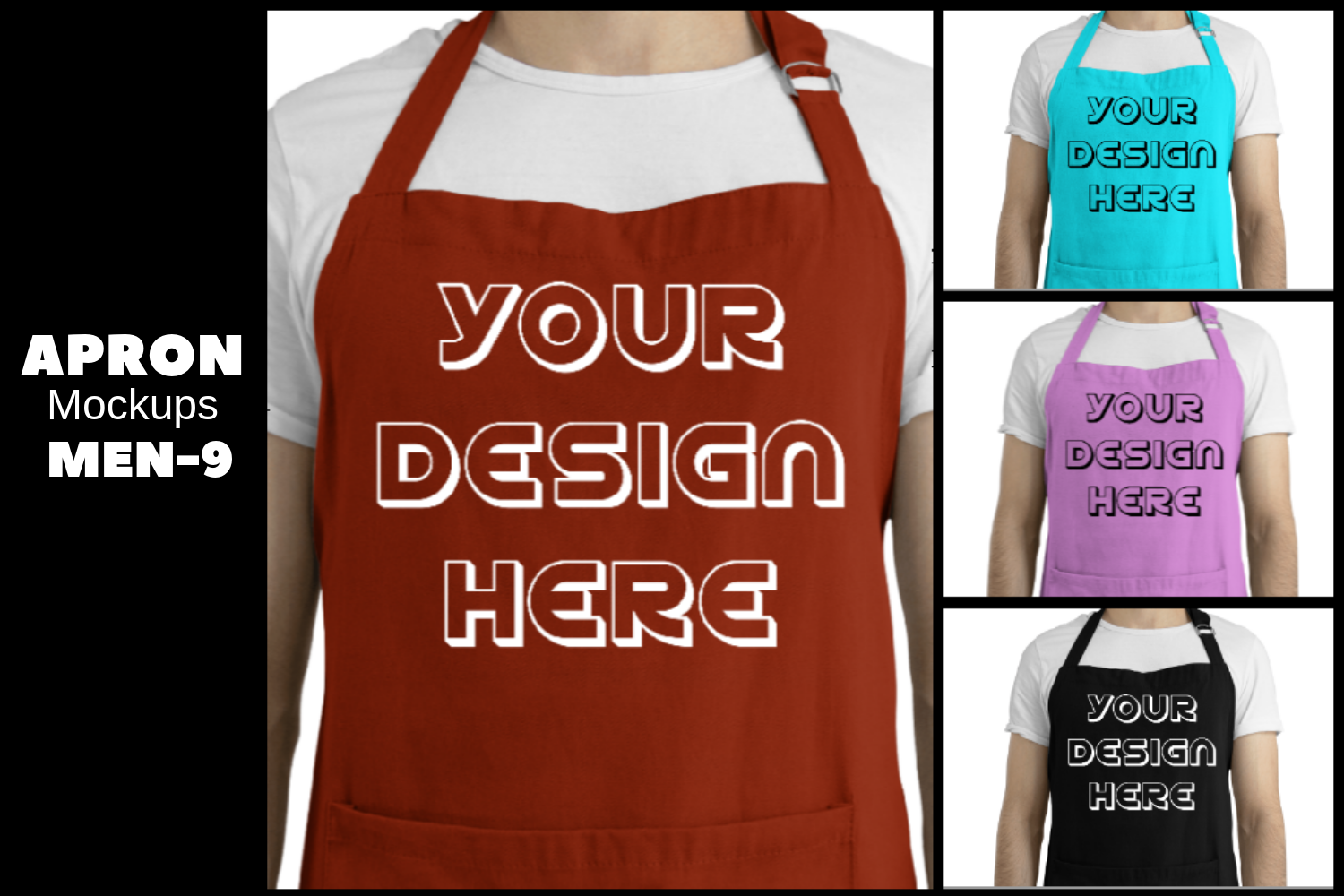 Download Free Apron Mockups Graphic By Mockup Venue Creative Fabrica for Cricut Explore, Silhouette and other cutting machines.