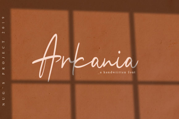 Print on Demand: Arkania Script & Handwritten Font By Andrie Nugrie
