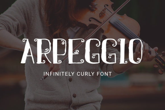 Print on Demand: Arpeggio Decorative Font By Craft-N-Cuts