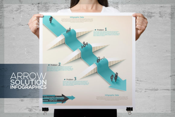 Arrow Solution Infographics Graphic Infographics By a.p.krasov