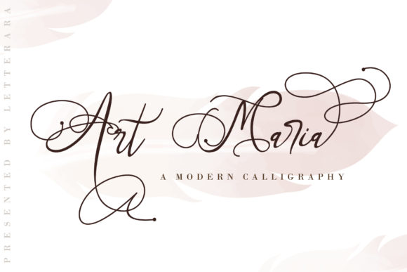 Print on Demand: Art Maria Script & Handwritten Font By thomasaradea