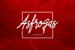 Asfrogas Font By Alit Design