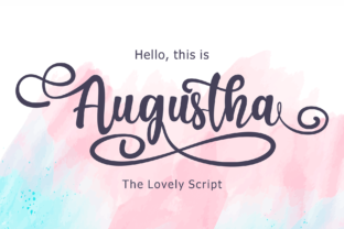 Augustha Font By figuree studio