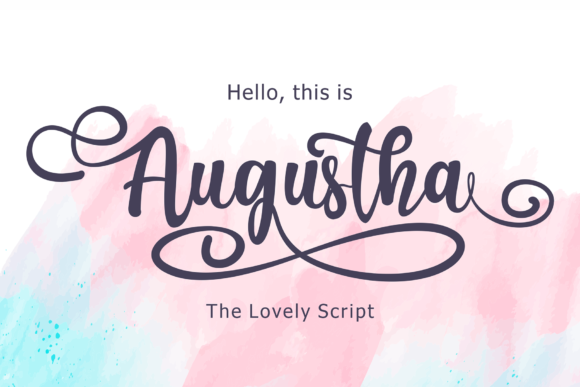 Print on Demand: Augustha Script & Handwritten Font By figuree studio