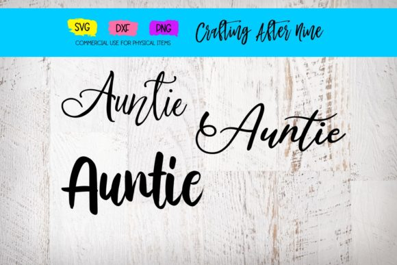 Print on Demand: Auntie Bundle Graphic Crafts By Crafting After Nine