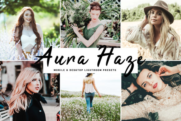 Print on Demand: Aura Haze Lightroom Presets Pack Graphic Actions & Presets By Creative Tacos