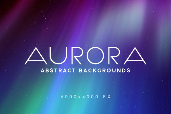 Print on Demand: Aurora Space Backgrounds Graphic Backgrounds By ArtistMef