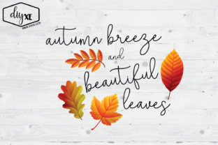 Autumn Breeze and Beautiful Leaves Graphic By Sheryl Holst