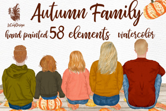Autumn Clipart Family Clipart Graphic Illustrations By LeCoqDesign