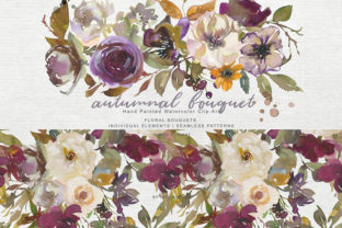 Autumn Flowers Clipart Graphic By Patishop Art