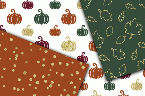 Autumn Gold Digital Papers Graphic Backgrounds By oldmarketdesigns - Image 2