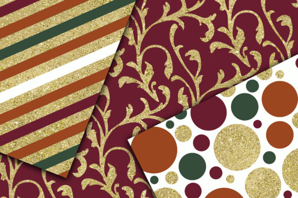 Autumn Gold Digital Papers Graphic Backgrounds By oldmarketdesigns - Image 3