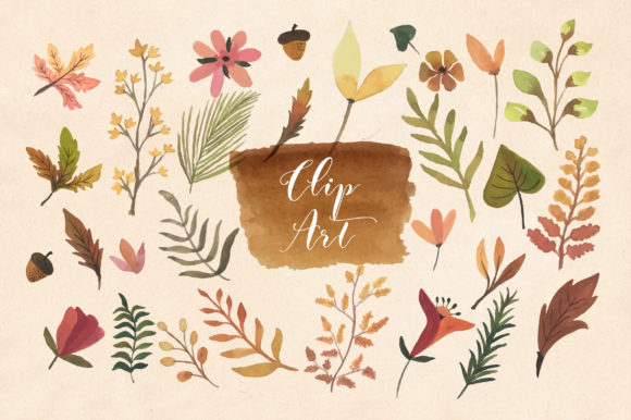 Print on Demand: Autumn I'm in Love Graphic Objects By Caoca Studios - Image 2