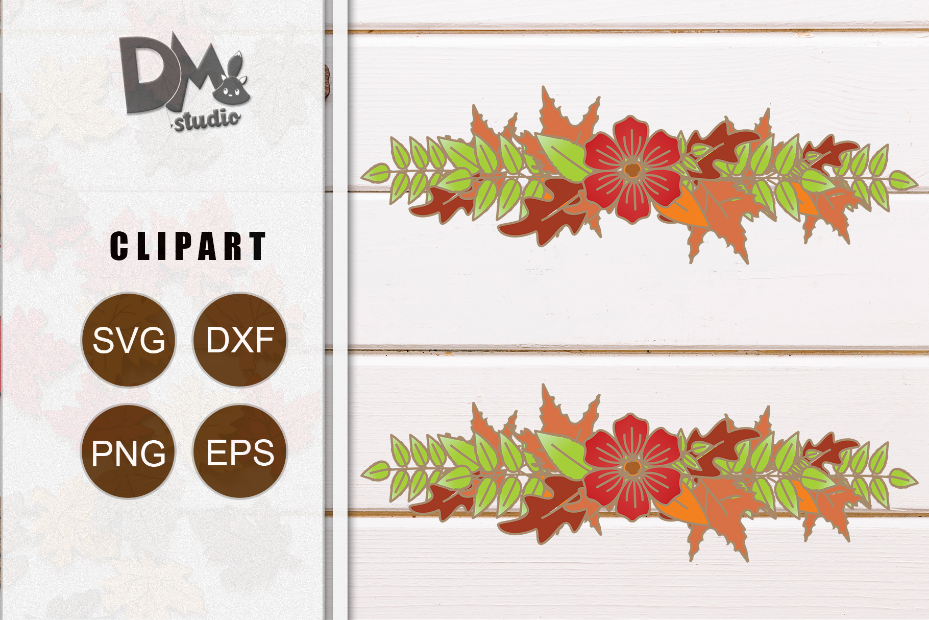 Download Free Autumn Leaf 4 Graphic By Sharon Dmstudio Creative Fabrica for Cricut Explore, Silhouette and other cutting machines.