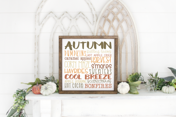 Download Free Autumn Subway Art Graphic By Morgan Day Designs Creative Fabrica SVG Cut Files