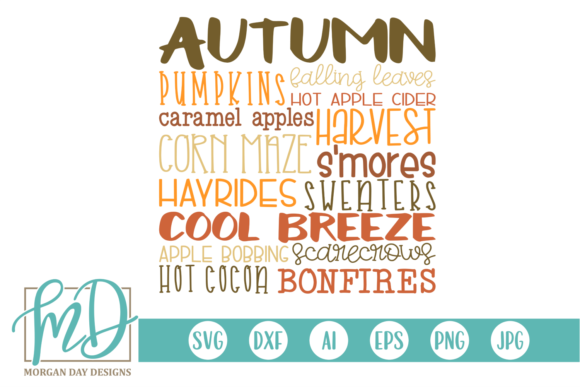 Download Free Autumn Subway Art Graphic By Morgan Day Designs Creative Fabrica for Cricut Explore, Silhouette and other cutting machines.