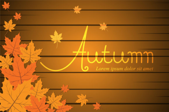 Print on Demand: Autumn Background Template Graphic Graphic Templates By sabavector