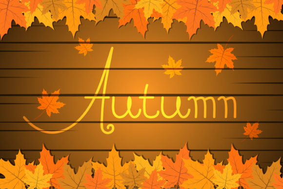 Download Free Autumn Background Template Graphic By Sabavector Creative Fabrica for Cricut Explore, Silhouette and other cutting machines.