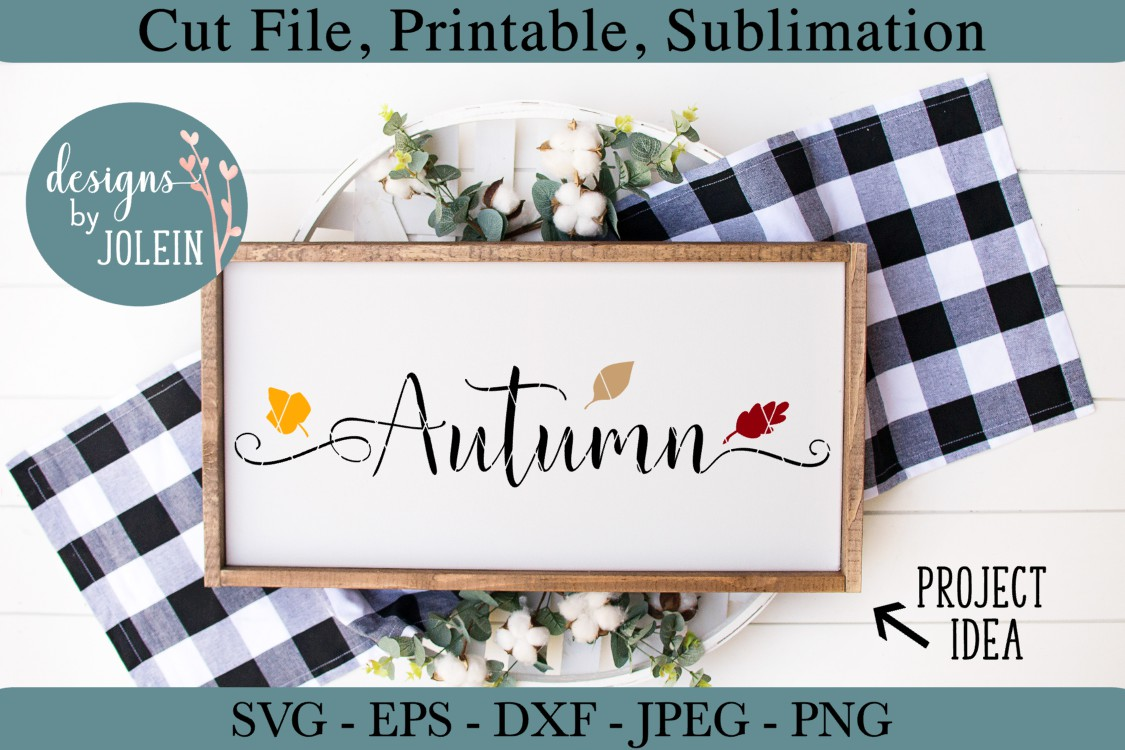 Download Free Autumn Graphic By Designs By Jolein Creative Fabrica for Cricut Explore, Silhouette and other cutting machines.