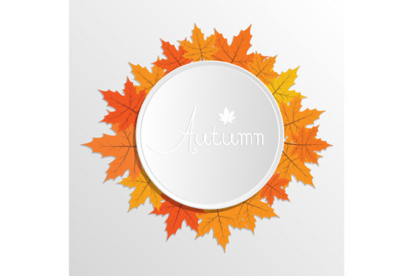 Print on Demand: Autumn Decoration Template Graphic Graphic Templates By sabavector