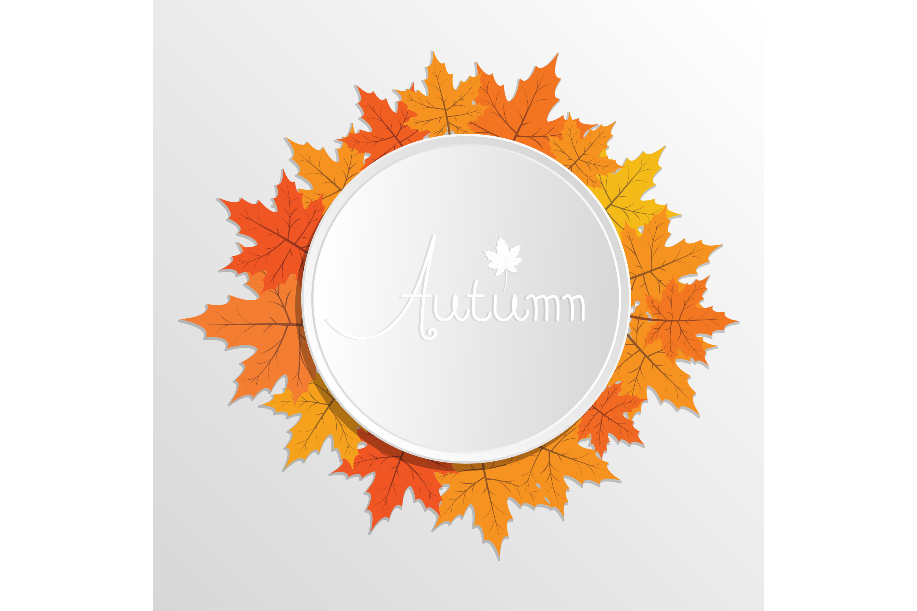 Download Free Autumn Decoration Template Graphic By Sabavector Creative Fabrica for Cricut Explore, Silhouette and other cutting machines.