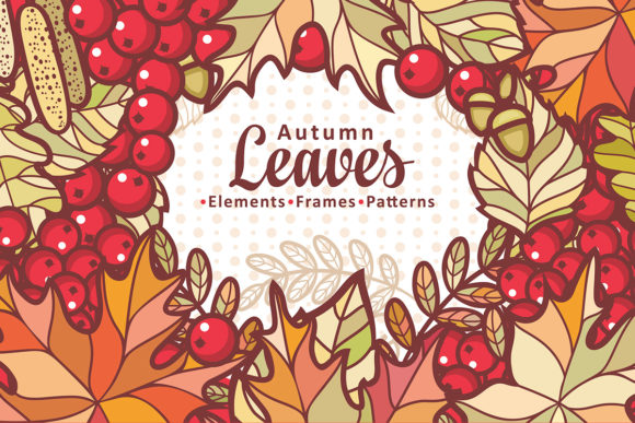 Print on Demand: Autumn Leaves. Cute Cartoon Elements Graphic Illustrations By zoyali