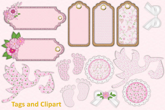 Download Free Baby Girl Clipart Backgrounds Bundle Grafico Por The Paper for Cricut Explore, Silhouette and other cutting machines.