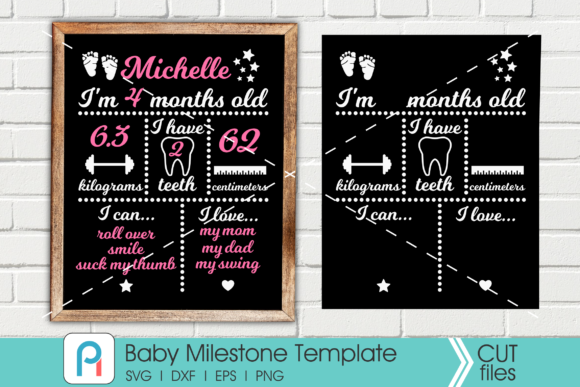 Download Free Baby Milestone Graphic By Pinoyartkreatib Creative Fabrica for Cricut Explore, Silhouette and other cutting machines.