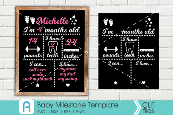 Baby Milestone  Graphic Crafts By Pinoyartkreatib