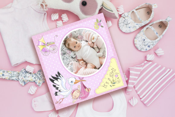 Baby Shower. Set for Girl. Graphic Illustrations By grigaola - Image 3