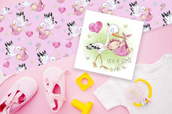 Baby Shower. Set for Girl. Graphic Illustrations By grigaola - Image 6
